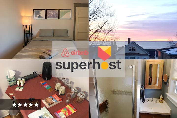 BEST BED in Duluth — cozy, quiet, walk to downtown - Duluth - Huis
