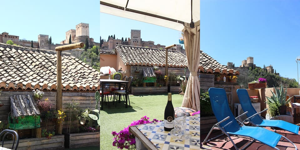 Sweet Atmosphere, Albaicin & Alhambra terrace view