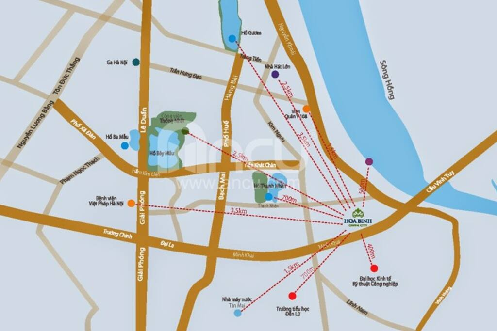 Hoa Binh Green City map