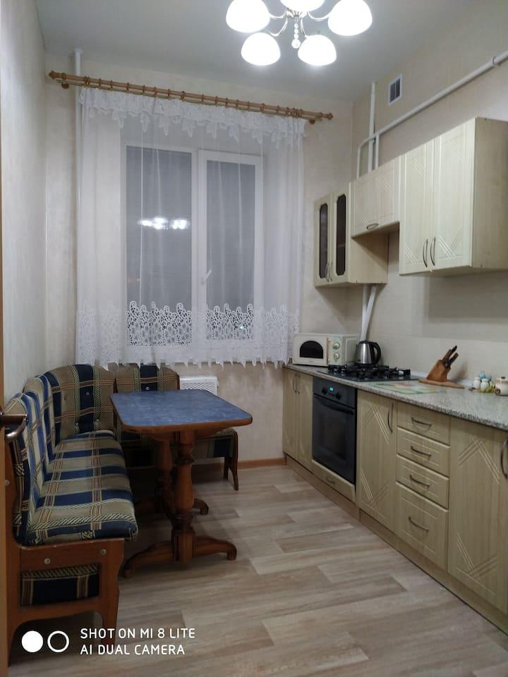 Уютная трёхкомнатная квартира в центре Кобрина