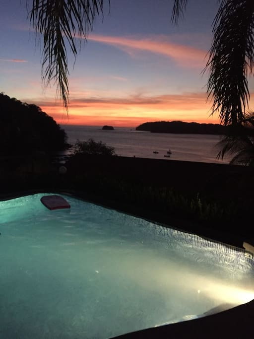 Sunset from pool