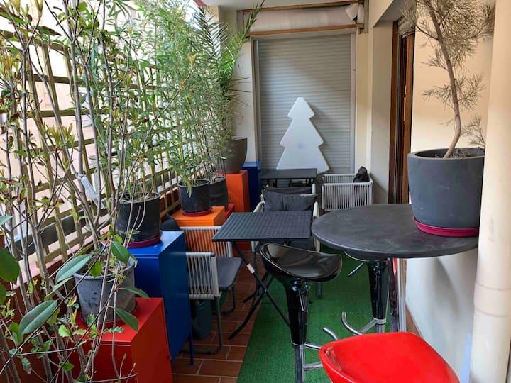 Appartement cosy artiste belle terrasse & parking