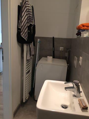 Waschmaschine kann mit genutzt werden