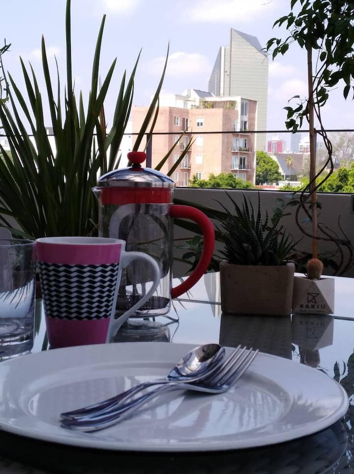 Luxury Spa Apt. in Americana Close to Chapultepec