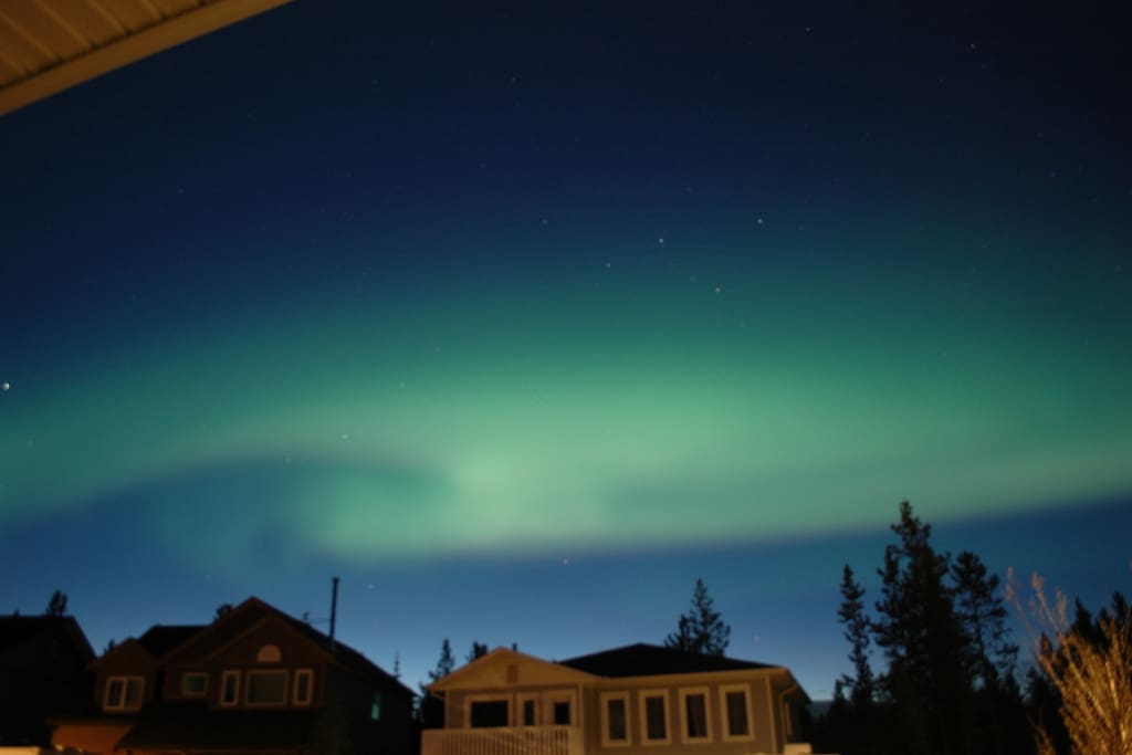 Northern lights as viewed from my house (front)