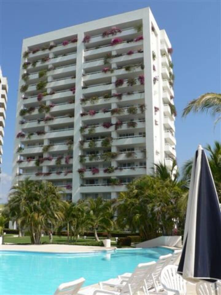"Monarca Condominum. Beach front, near ""The Marina"" Ixtapa."