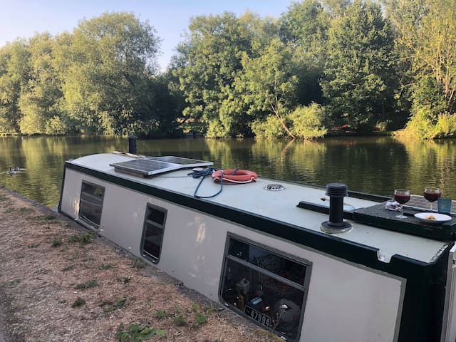 Half size canal boat 40ft.Beautiful central Oxford