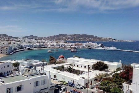 Studio for 2/3 in town with seaview - Mikonos - Apartment