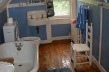 Third floor bathroom with claw footed tub