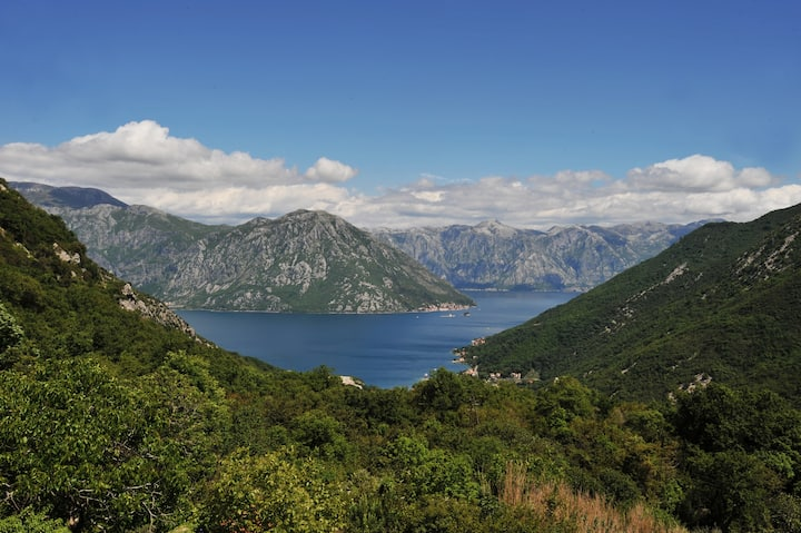 Entire floor with a panorama view on the Kotor Bay