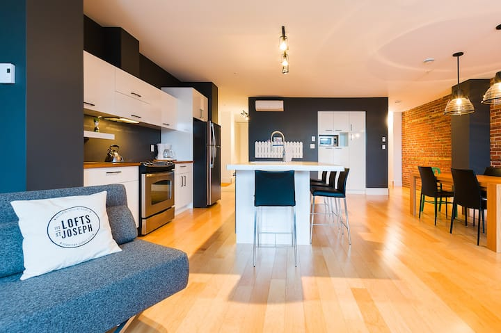 Spacious family apartment in vibrant St-Roch