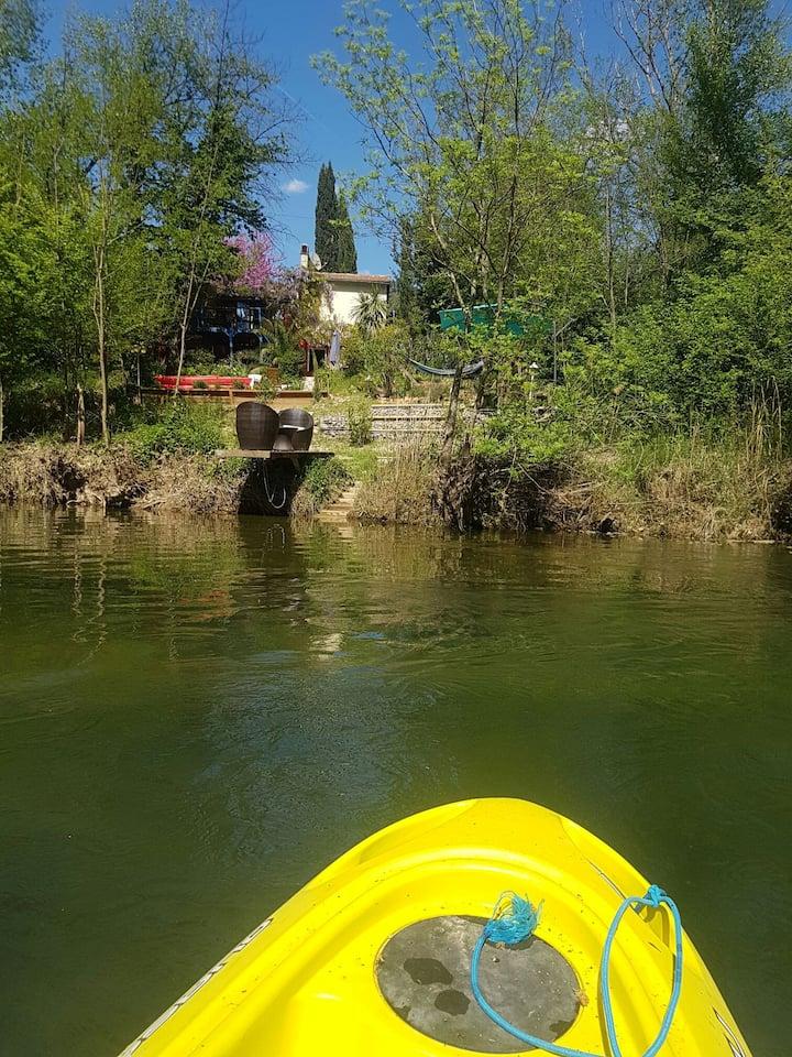 Landhaus Südfrankreich Provence am Fluss 5 Kanus