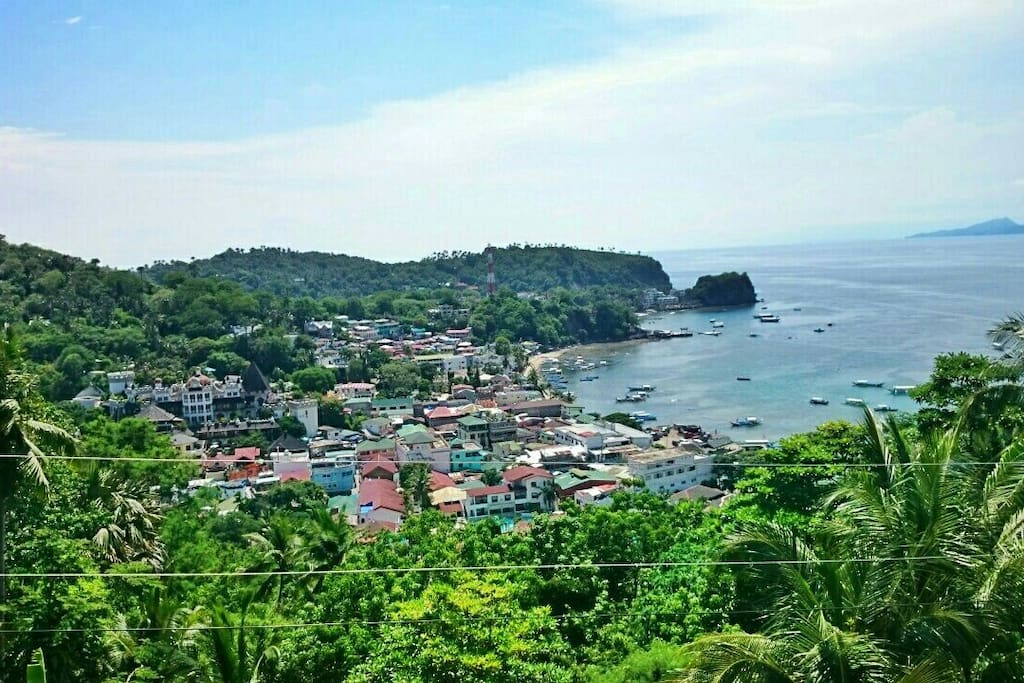 Overlooking view of Sabang Beach