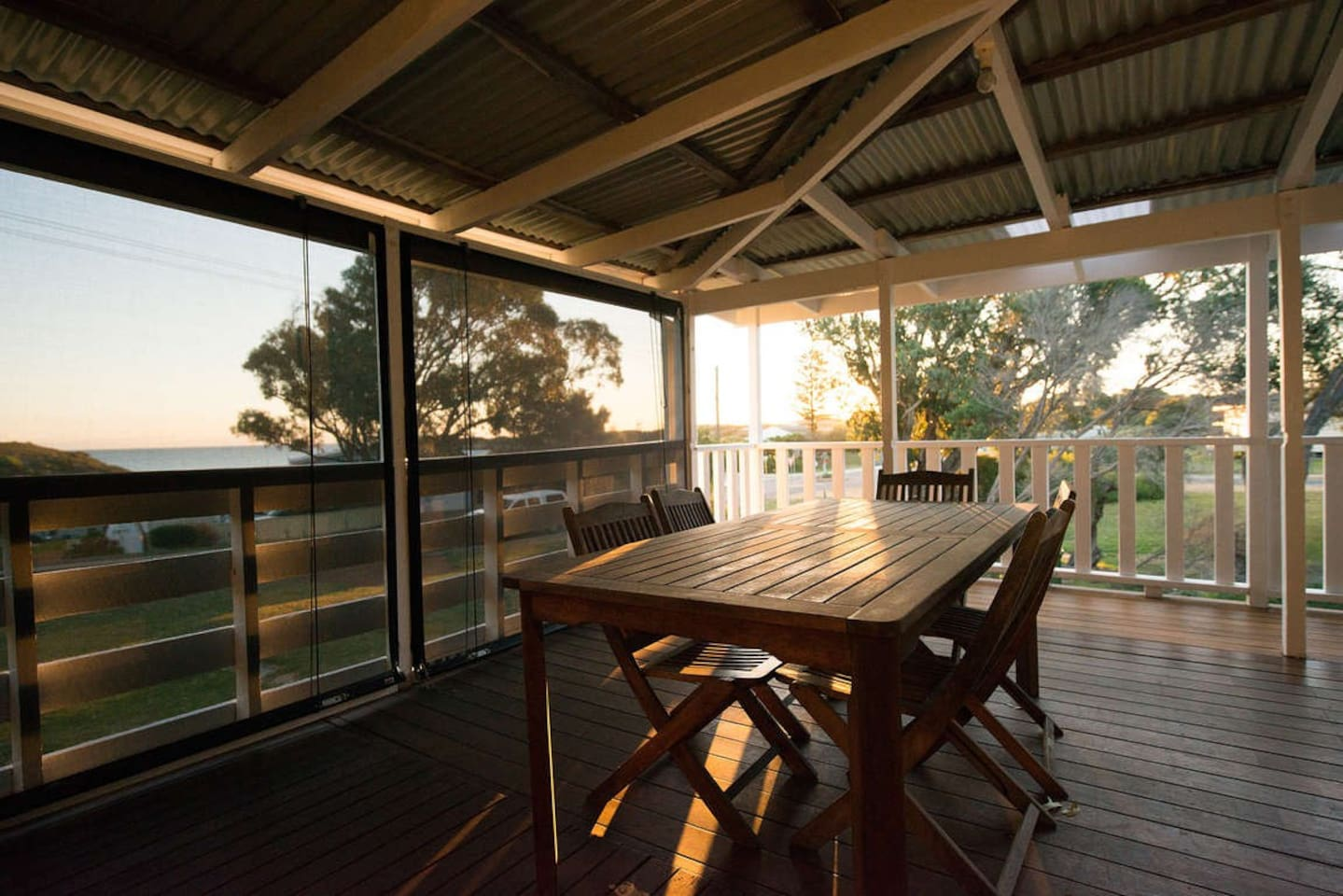 Large Deck sheltered from the wind