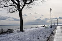 The Friendship trail ideal for all seasons.  Only a short stroll from us by Car, foot, or bicycle with picturesque view across Lake Erie .