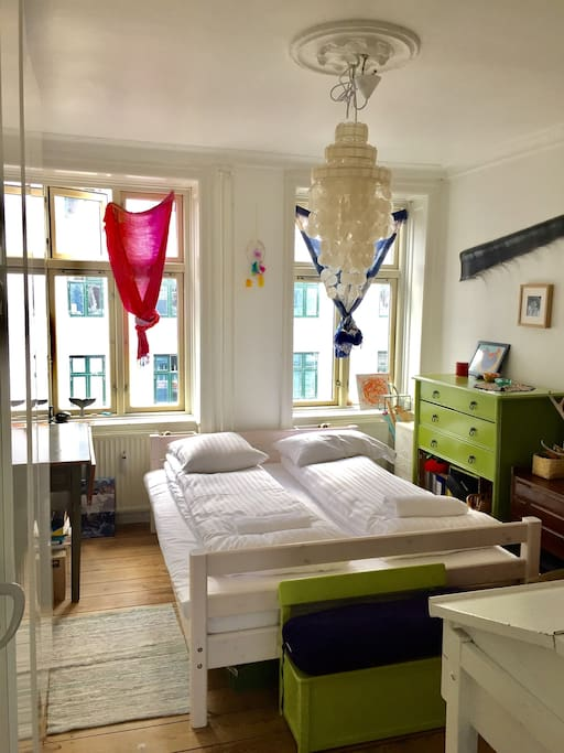 Double bedroom with lots of light