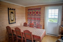 The dining room has fantastic view over the fjord.