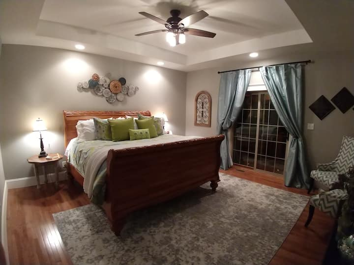 Luxury Master Suite with Private Entrance