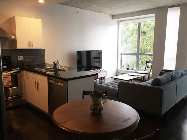Modern Chinatown 1 BR + Parking