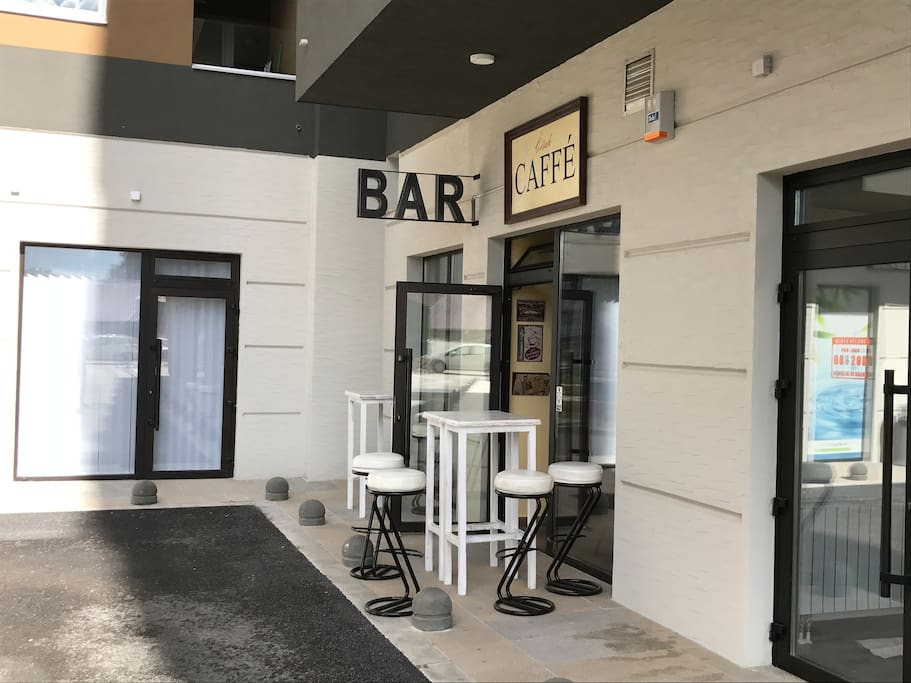 the BAR, your place for coffee and chill out drink