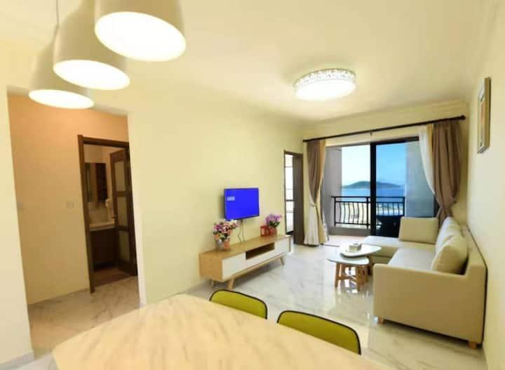 阳西月亮湾两房一厅海景套房/碧海蓝天青州岛潜浮/沙滩漫步