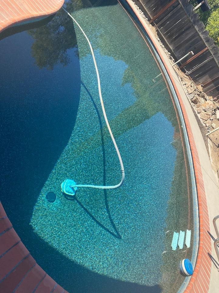Black bottom pool