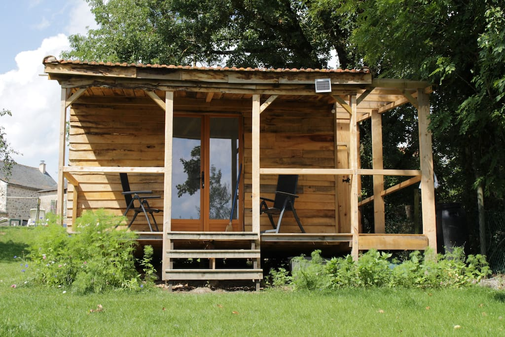 'The Bothy' our garden eco-chalet sleeps two in splendid isolation.