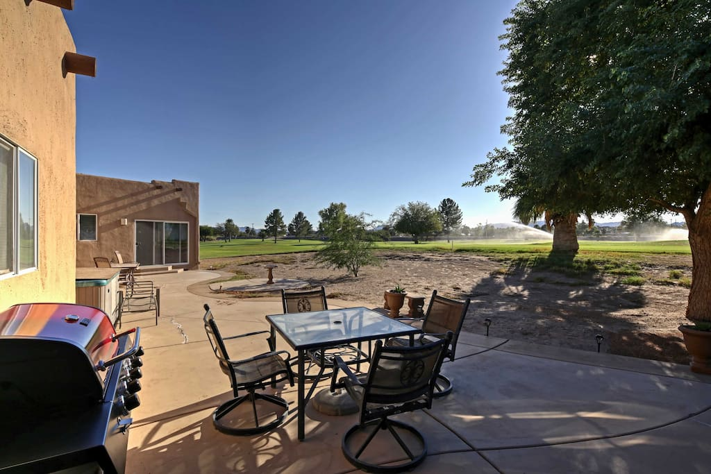 Cook up some tasty  BBQ and enjoy lunch outdoors on the private patio.