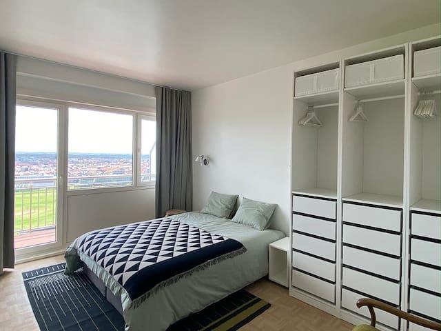 Bedroom 1 with terrace