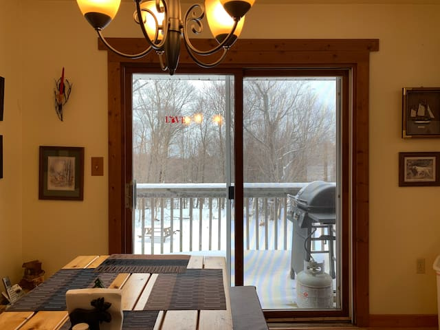 Dining Room With Walkout Deck