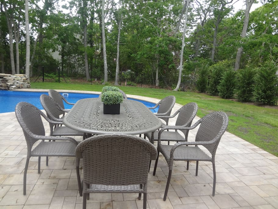 Large outdoor table seats 10