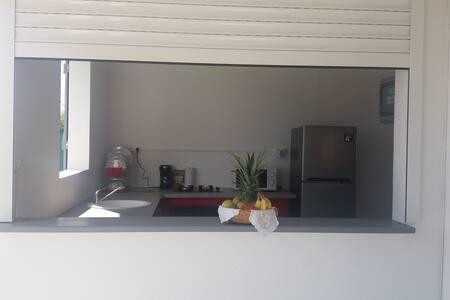 Beau studio avec jardin / Wifi - Saint-François