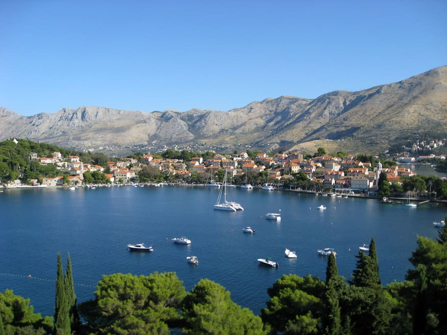 View of the Cavtat Bay