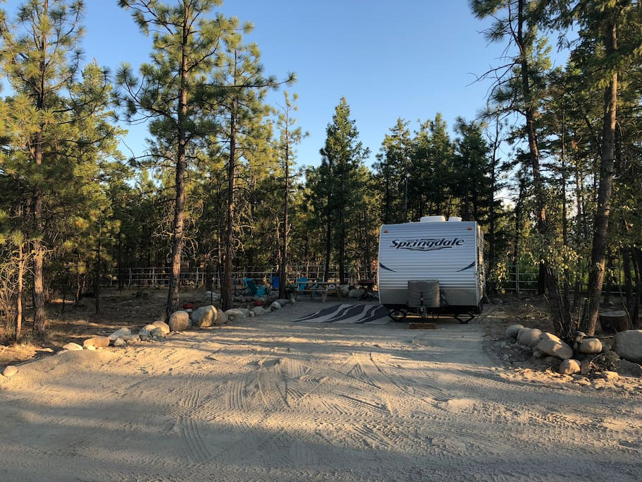 Lots of room for RV's in our sites!