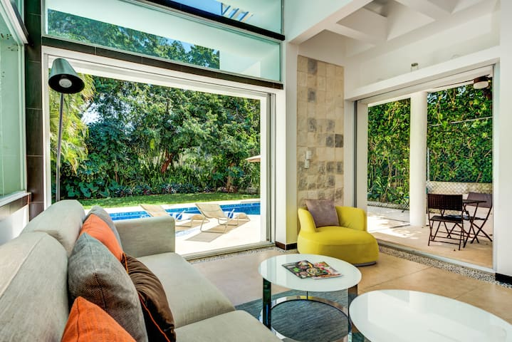 Private modern charming villa close to the beach!