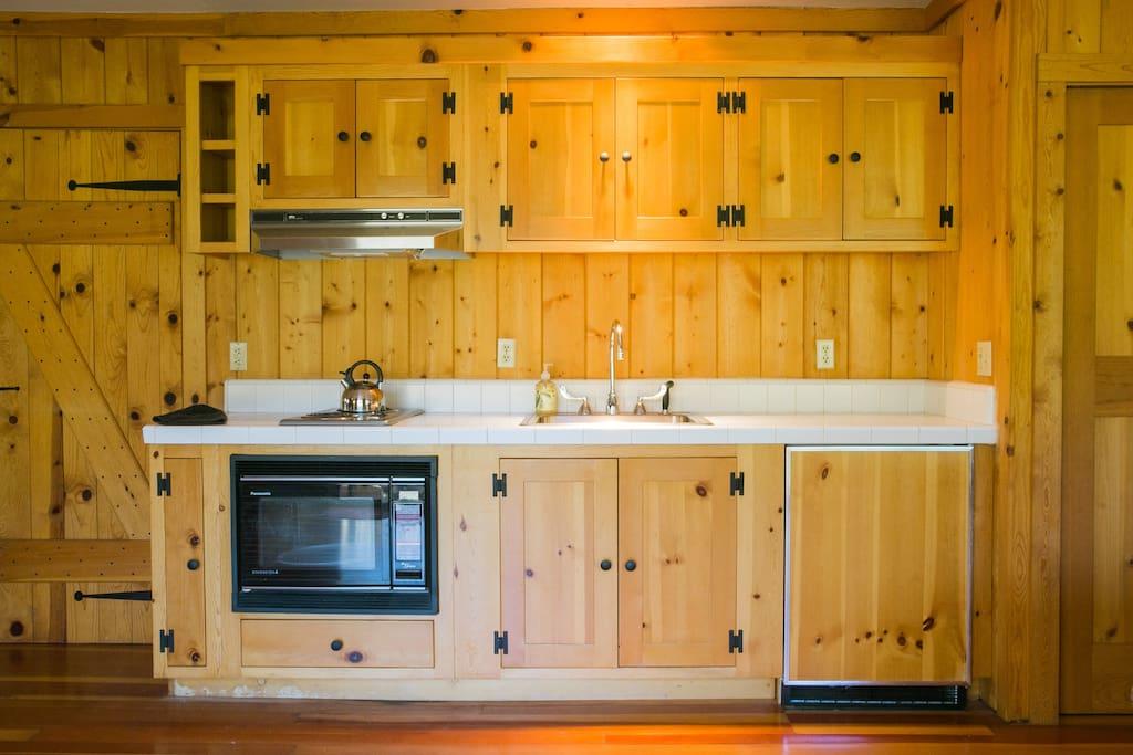 Enjoy a small kitchenette