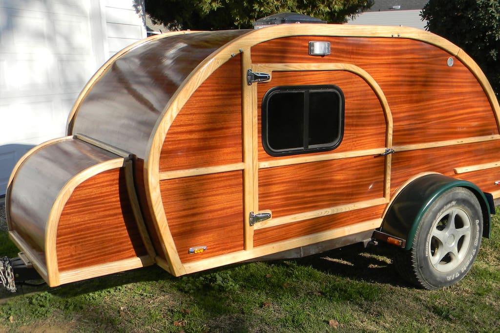 Custom built teardrop trailer