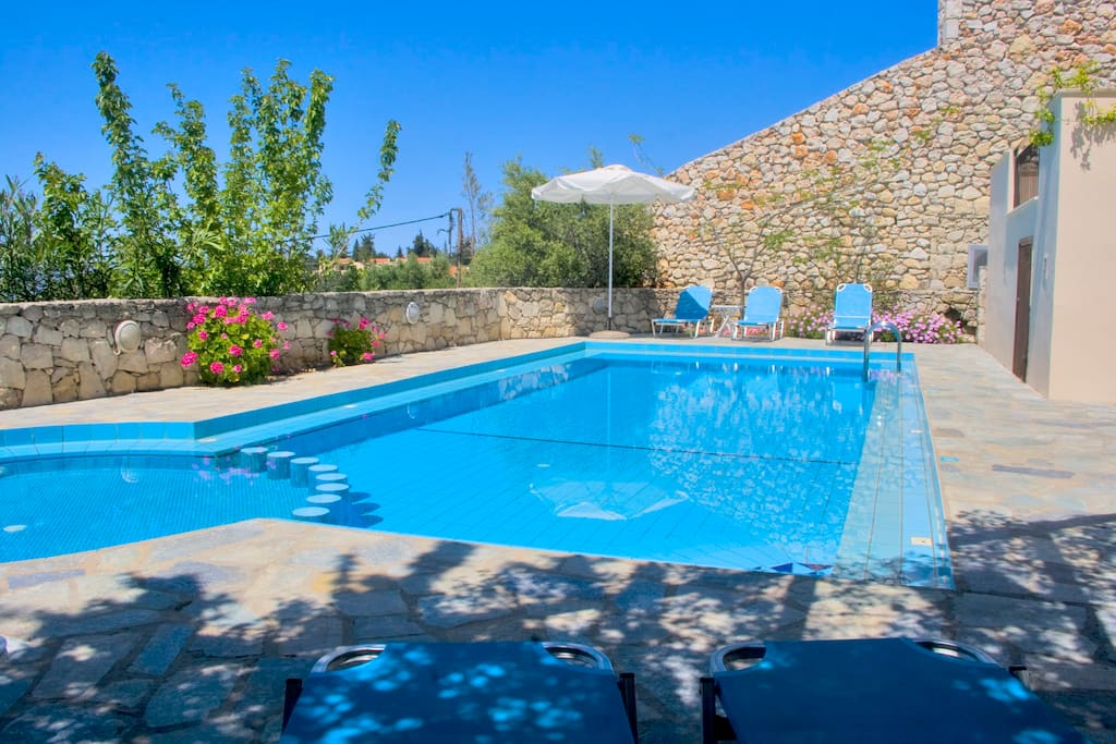 The heated pool is for your exclusive enjoyment and not overlooked.