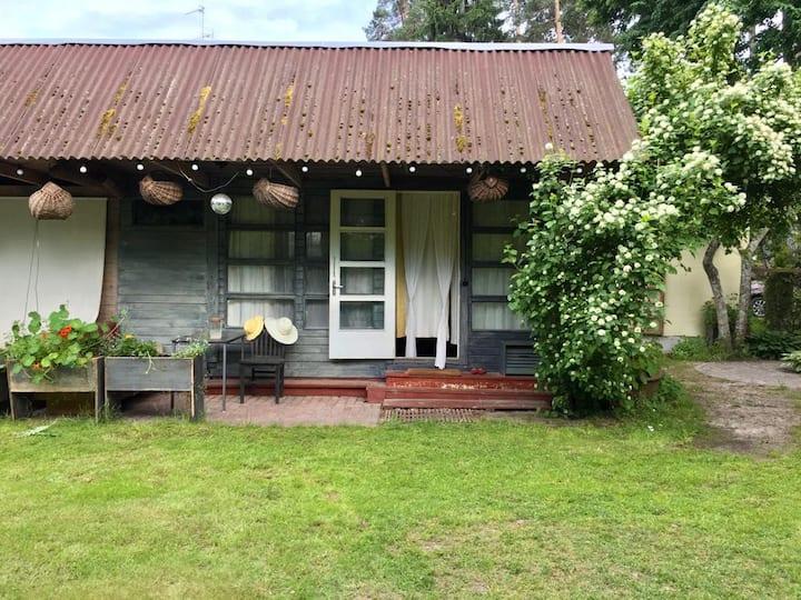 A Pioneer  green yard house
