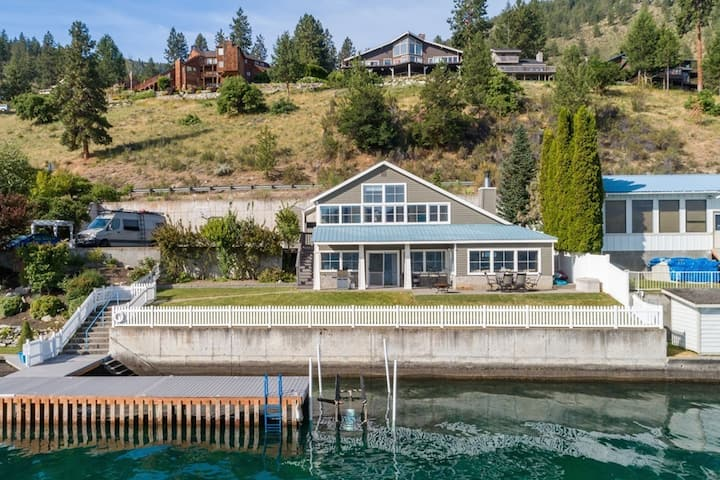 Beautiful Lakefront Home with Private Hot Tub, Dock, & Amazing Views - Dogs OK!
