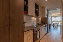 Gourmet kitchen, quartz counters and all the bells and whistles