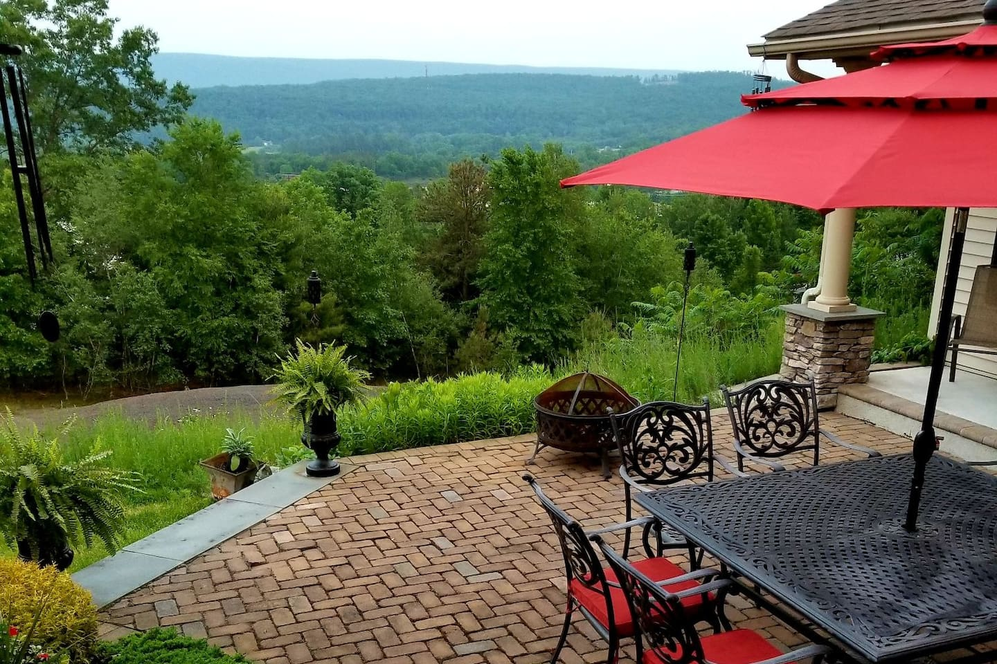 See the Delaware Water Gap, The Cherry Valley and the Wind Gap from your patio view