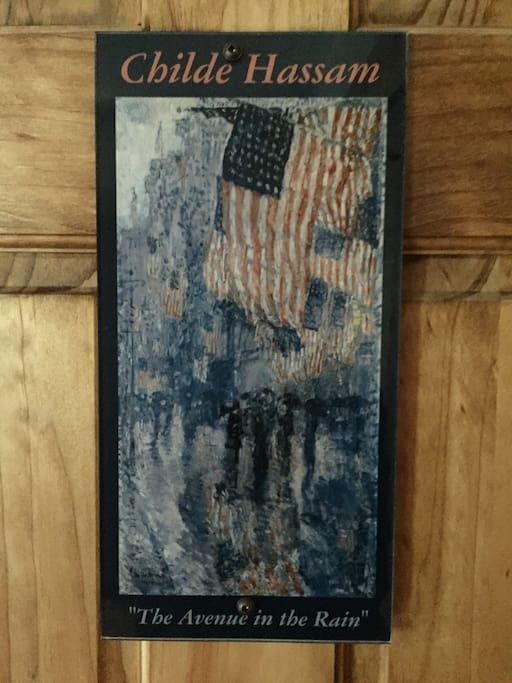 Room Features the Artwork of Childe Hassam