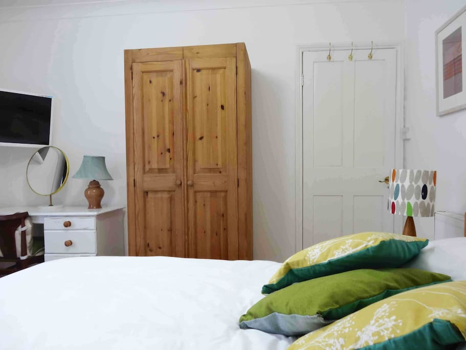Guest Bedroom        ( bedside table and wardrobe )