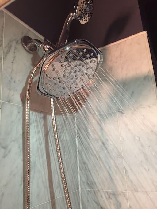 Luxurious rain shower!