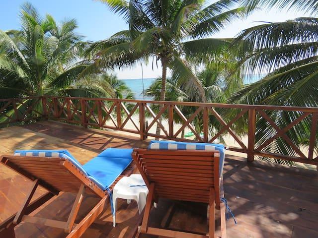 Casa 7 cielo beachfront to an amazing caribbean