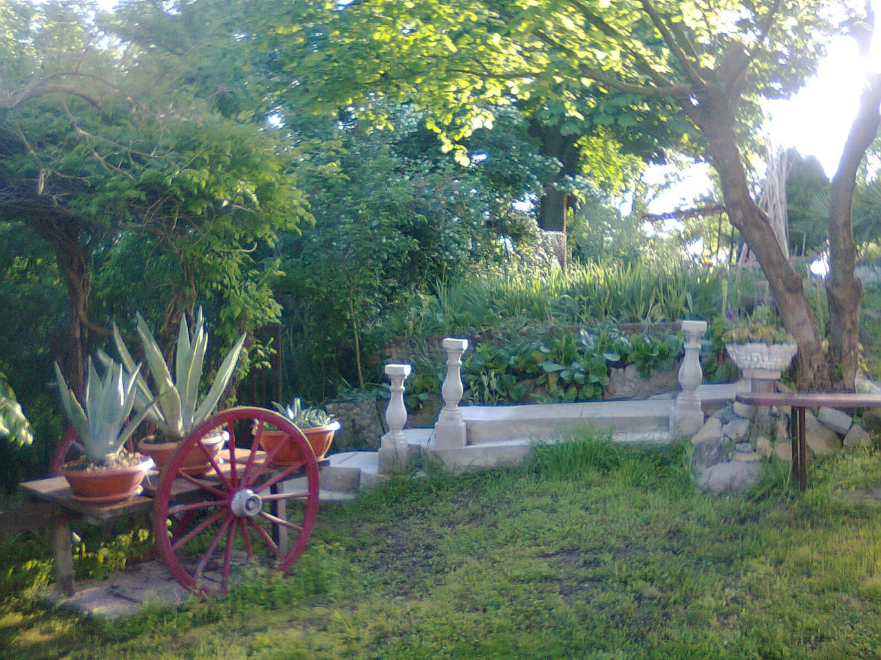Garden View from the Private 2 bedroom and kitchen house