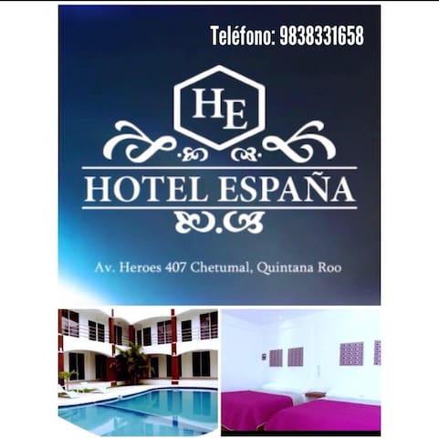 Hotel España. Chetumal, Quintana Roo.