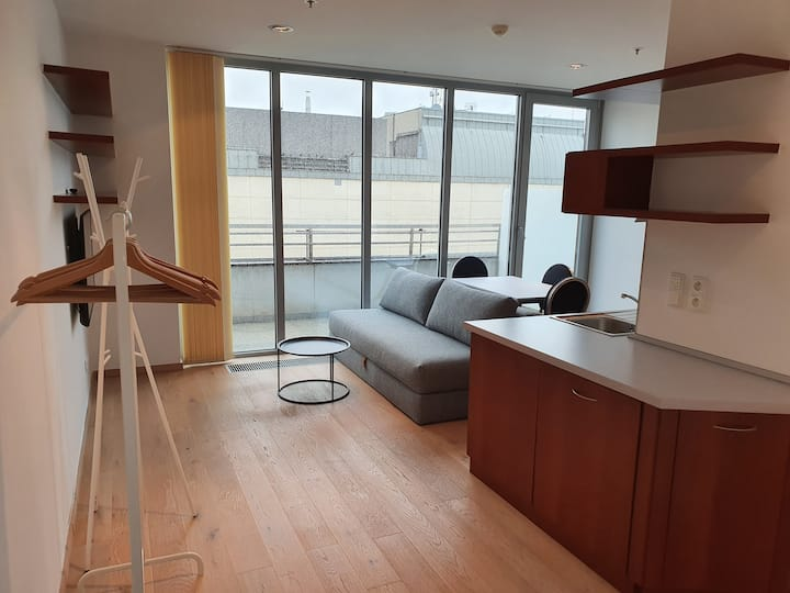 Top floor City center Studio with Balcony
