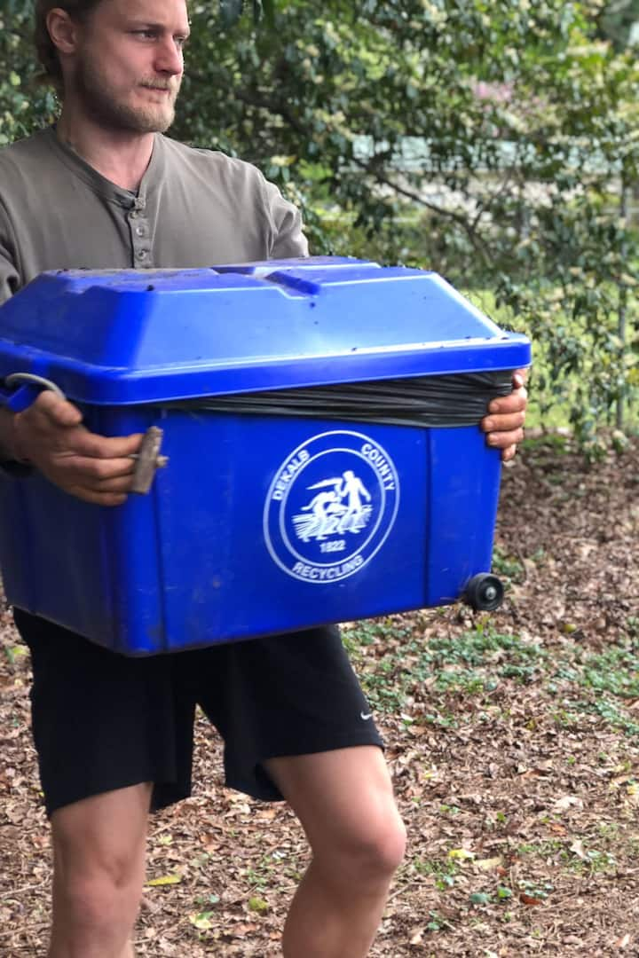 We re-use this bin for vermicomposting.